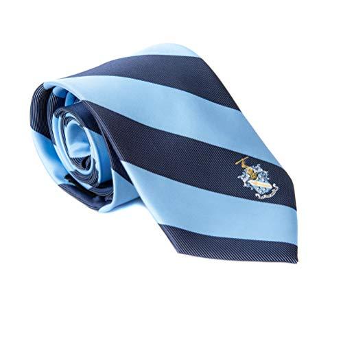 (Phi Delta Theta Fraternity Necktie Tie Greek Formal Occasion Standard Length Width (Stripped Crest Necktie))