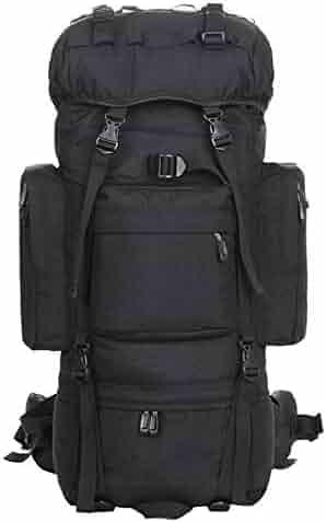 Zehaer Climb Backpack Trekking Hiking,Nylon Outdoor Mountaineering Riding Bag,Orange