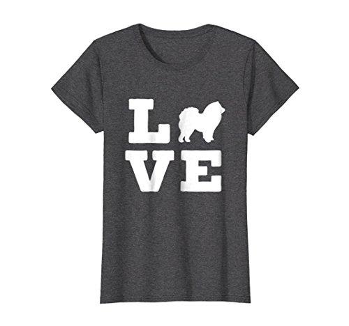 Chow Dog T-shirt - Womens I Love My Chow Chow Cute Animal Lover Dog T-Shirt Medium Dark Heather