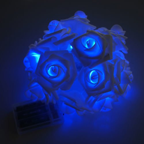 20LED Rose Flower Fairy Wedding Garden Party Xmas Decor Christmas String Lights Blue no.36