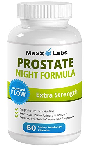 Flow 60 Capsules (Prostate Night Formula ★ New ★ All Natural Formula that Provides Nutritional Support for Prostate Health - Improves Urinary Flow Rates and Reduces Prostate Inflammation - 60 Capsules -Gluten)