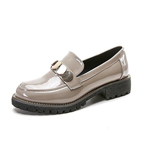 Klassieke Casual Loafers Voor Dames - Mocassins Met Zachte Slip Op Schoenen 838-8 Abrikoos