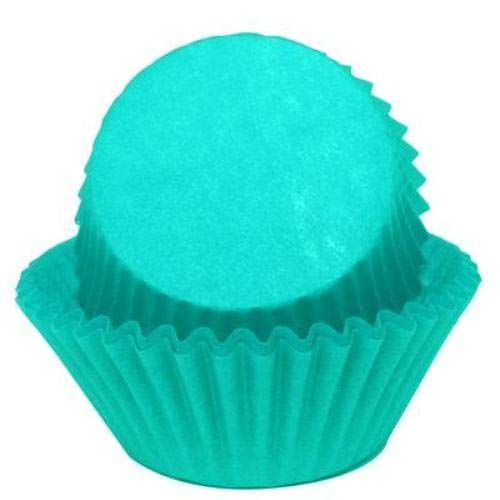 Solid Color Teal Cupcake Liners Baking Cups Standard