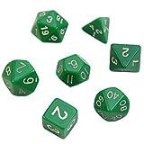 Arich 1 Set 7 pcs Sided Die D4 D6 D8 D10 D12 D20 DUNGEONS & DRAGONS D&D RPG Poly Dice Game (GN 1)