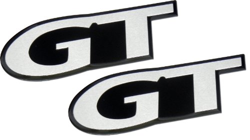 ERPART GT Fender Trunk Embossed Aluminum Emblem Badge Compatible with Ford Mustang (Pack of ()