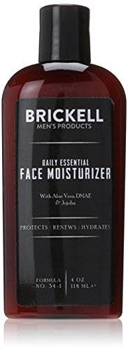 Brickell Men s Daily Essential Face Moisturizer for Men, Natural and Organic Fast-Absorbing Face Lotion with Hyaluronic Acid, Green Tea, and Jojoba, 4 Ounce, Scented