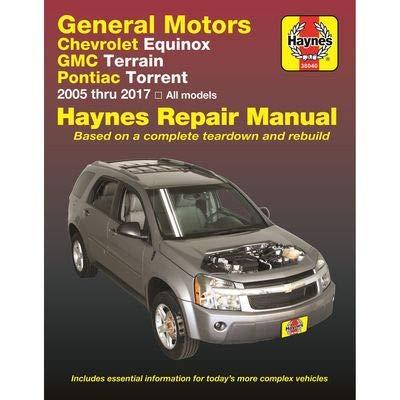 Haynes Repair Manual 38040 for GMC Terrain, Chevrolet Equinox & Pontiac Torrent 2005-2017