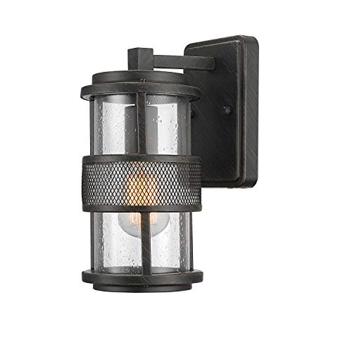 Globe Electric 44100 Bronson Outdoor Wall Sconce, Dark Bronze