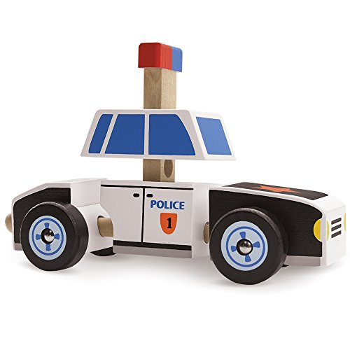 Wooden Wonders Put-It-Together Police Cruiser - 2-in-1 3D Assembly Puzzle (8pcs.) by Imagination Generation