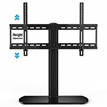Fitueyes Universal TV Stand/ Base Tabletop TV Stand with Wall Mount for up to 65 inch Flat screen Tvs/xbox One/tv Component Black