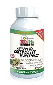 Choice Nutrition Supplements Green Coffee Bean Extract 800 with GCA Natural Weight Loss Supplement, 60 Caps