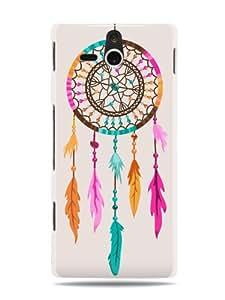 "GRÜV Premium Case - ""Native American Indian Dream Catcher"" Design - Best Quality Designer Print on White Hard Cover - for Sony Ericsson Xperia U ST25i"