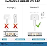 Mac Book Pro Charger, 60W Magsafe 2 T-tip Power