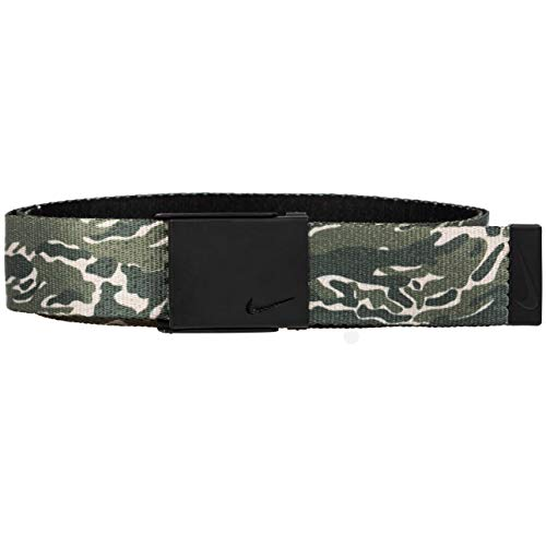 NIKE Men's New Tech Essentials Reversible Web Belt, olive camo/black, One Size