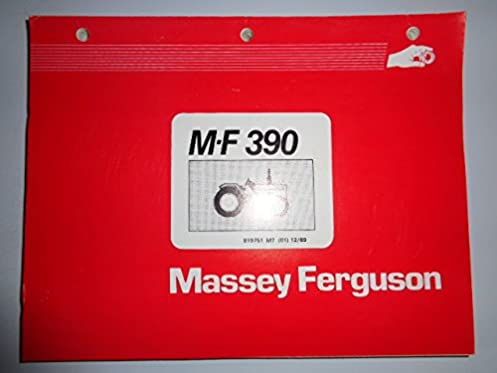 massey ferguson mf 390 tractor parts catalog book manual original rh amazon com massey ferguson 390 manual pdf massey ferguson 390 parts manual