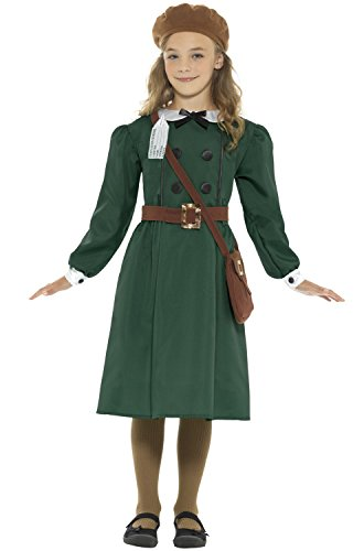 WWII Evacuee Girls Fancy Dress British World War 2 Book Day Childs Kids Costume - World War 2 Fancy Dress Costumes