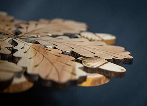 Teapot Trivets Set Handmade Carved Wood Ukrainian Juniper Wooden hot pad for a teapot + Cups by Tea Hot 2 (Image #3)