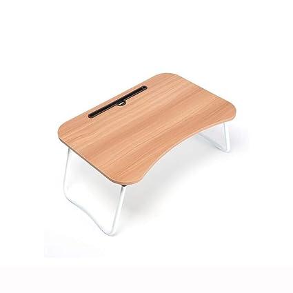 QIDI Ordenador Portátil Mesa Plegable por Cama Casa Oficina Estudiar Desayuno Dibujo Habitación (Color :