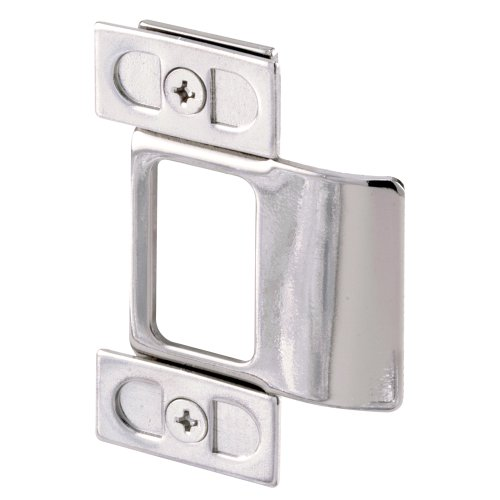 Prime Line U 9488 Adjustable Door Strike, Chrome Plated, 2 Piece