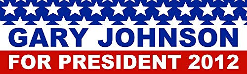 HZ Graphics Gary Johnson President 2012 Election Vinyl Decal Wall Laptop Car Bumper Sticker 5