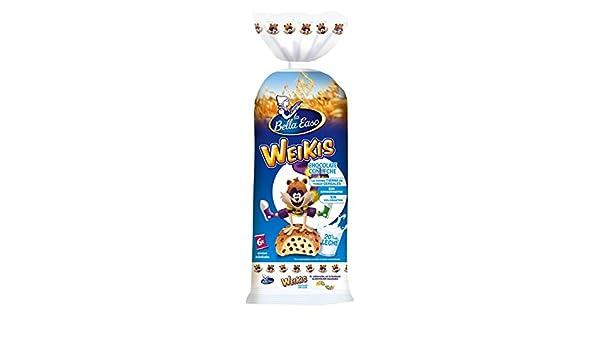 Weikis Chocolate con Leche 6 - Paquete de 6 x 42 gr - Total: 252 gr: Amazon.es: Alimentación y bebidas
