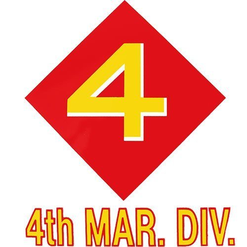 US Marine Corps 4th Marine Division Clear Decal (Decal Div)