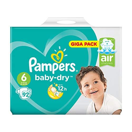 Pampers Baby Dry Giga Pack, Größe 6, 92Windeln Größe 6 92Windeln