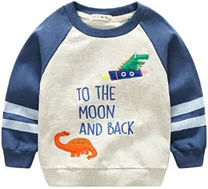 6d916babccc3 Buy-Box Baby Boys Long Ribbed Sleeve Sweater Cartoon Pullover Casual Sweater