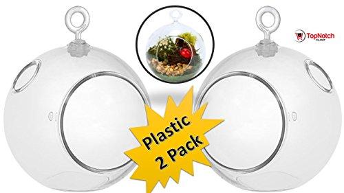 (Terrarium globe - Plastic Terrarium (2 Pack) Clear Globe - Create Your Own Shatter-Proof Orb Terrarium Right at Home - Clear Plastic Globe)