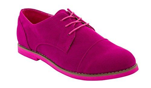 Women's Rasolli Molly Microsuede 1 Oxfords Pink xAw6RwYr5q