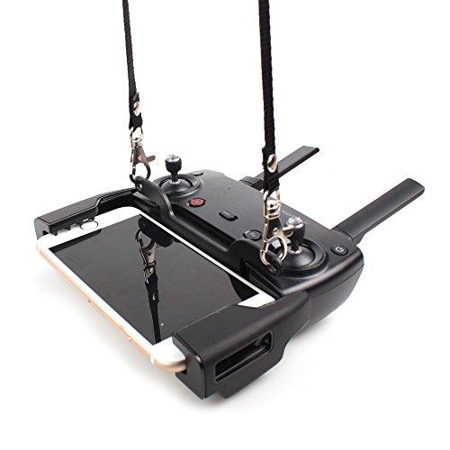 Rantow SPARK & MAVIC Remote Controller Dual Hook Lanyard Bracket Buckle + Neck Hanging Belt Strap Necklaces Combo for DJI Spark/DJI Mavic Pro/DJI Mavic Air Drone Transmitter