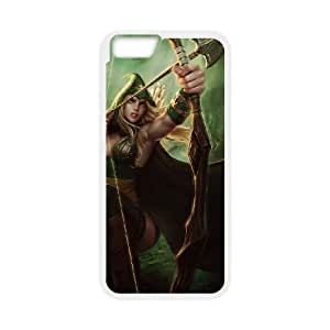 iPhone 6 4.7 Inch Cell Phone Case White League of Legends Sherwood Forest Ashe OIW0404648