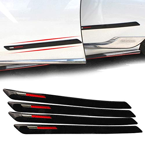 COSMOSS Car Front Rear Bumper Body Side Moldings Protection Guard 19 Inch