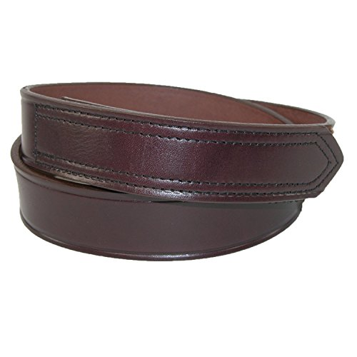 Velcro Brown Leather - Boston Leather Mens Leather 1 3/8 inch hook and loop fasteners, No Scratch Work Belt | Brown 34