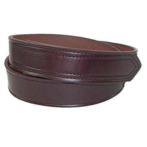 Boston Genuine Belt (Boston Leather Mens Leather 1 3/8 inch Velcro No Scratch Work Belt | Brown)