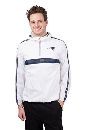 ICER Brands Women's Quarter Zip Pullover Hoodie Windbreaker Jacket Packable, White, Large