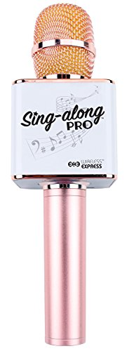 Sing-along PRO Bluetooth Karaoke Microphone and Bluetooth Stereo Speaker All-in-one (Rose Gold)
