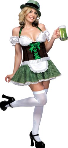 Adult Lucky Charm Costumes (Secret Wishes  Lucky Charm Costume, Green, X-Small)