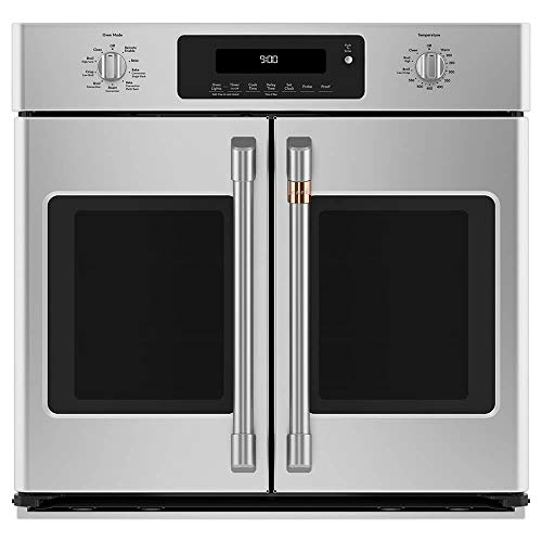 Cafe 30″ Smart French-Door Single Wall Oven with Convection Stainless Steel CTS90FP2MS1