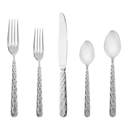 Fortessa Celta Stainless Steel Dinnerware 5 Piece Place Setting