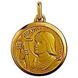 Médaille Or 3,2 gr Sainte Jeanne 18 carats