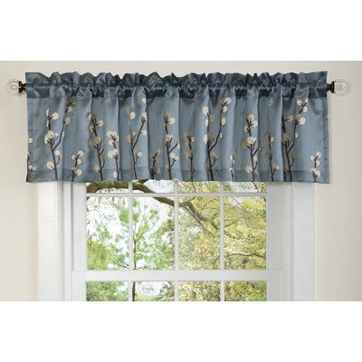 Lush Decor 18-Inch by 84-Inch Cocoa Flower Valance, Blue by Lush Decor
