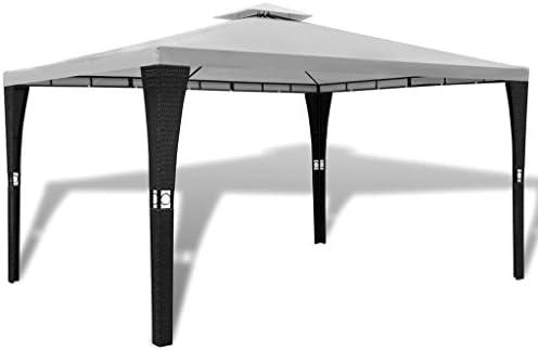 Shengfeng cenador de Polirratán con tejado Blanco Crema 3 x 4 m. Carpa Plegable Carpa de jardín Carpa Eurolandia Carpa Exterior Carpa Impermeable: Amazon.es: Jardín