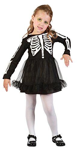 Toddler Skeleton Dress (Toddlers Skeleton Girl Costume)