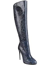 Women's Python Skin High Heels Knee-High Boots Shoes