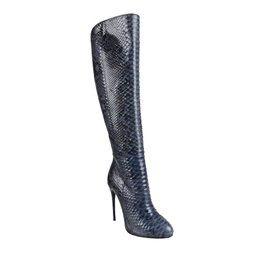 Gucci Women's Python Skin High Heels Knee-High Boots Shoes US 5.5 IT 35.5; - Gucci High Heel Shoes