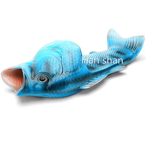 Unisex Fish Slippers Beach Fish Slippers Animal Slippers Animal Fish Slippers (US: Female4.5 M, Royal Blue)