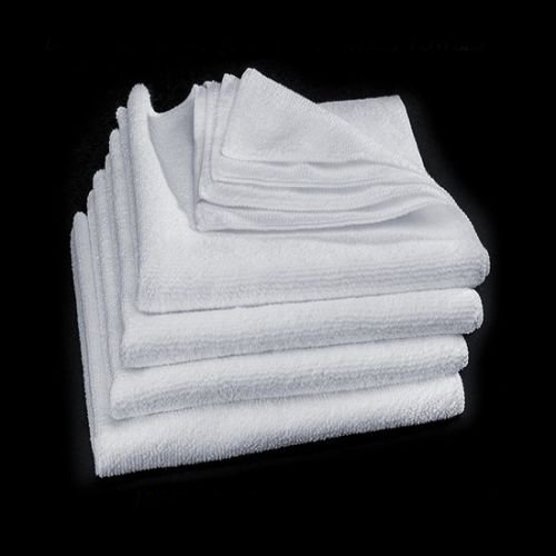 GHP 120-Pcs 12''x12'' White Car Wash Professional Grade Microfiber Cleaning Towels by Globe House Products