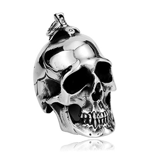 ANAZOZ Fashion Jewelry Necklace Whole Stainless Steel Jax Teller Sons of Anarchy Season 7 Skull Pendant for Man Bikerpunk AO116