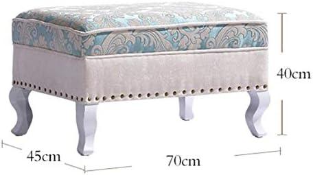 YJLGRYF Europäischen Wohnzimmer Sofa Hocker Fuß Ottomane Bett Ende Hocker Halle Test Schuhe Hocker Hause Hocker (Color : C) F
